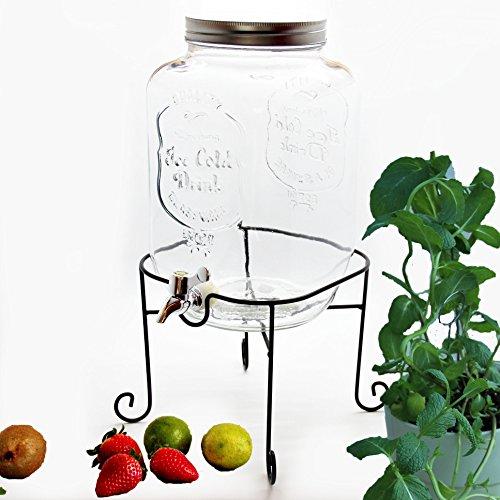 bada bing gro er getr nkespender 8 l aus glas mit zapfhahn und deckel wein fibel. Black Bedroom Furniture Sets. Home Design Ideas
