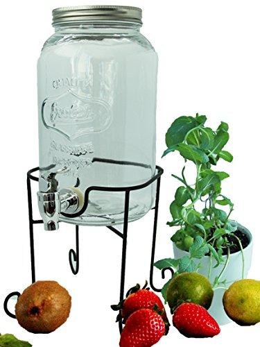 bada bing getr nkespender 3l aus glas mit zapfhahn und deckel tt mit st nder tinobrac. Black Bedroom Furniture Sets. Home Design Ideas